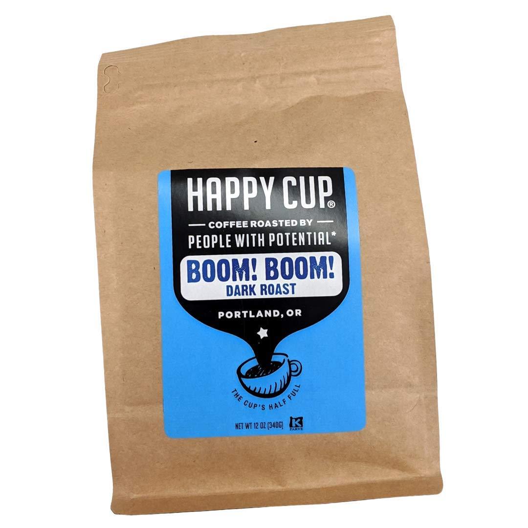 Happy Cup Coffee, Coffee Dark Roast, 12 Ounce