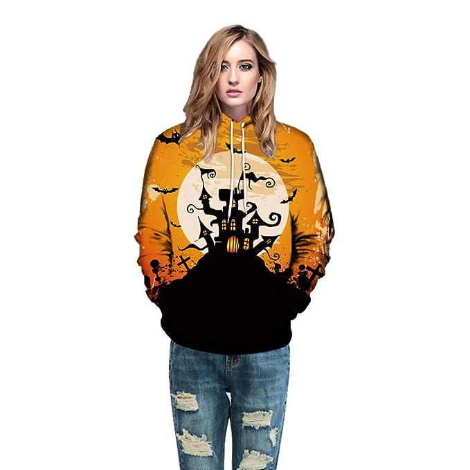 Blusas de Halloween,BBestseller Sudadera con Capucha de Halloween 3D Impresión Camisas Mujer de Vestir Top de Manga Larga Otoño e Invierno: Amazon.es: Ropa ...