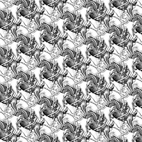 - GRAPHICS & MORE Black White Knights Horses Medieval Jousting Fantasy Premium Roll Gift Wrap Wrapping Paper