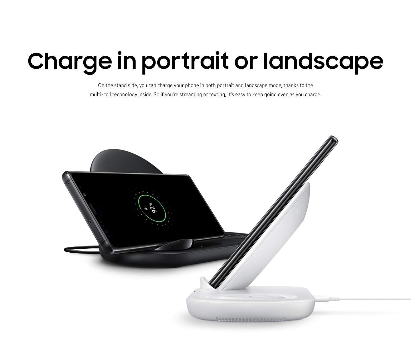 Charging Stations Renewed Samsung Wireless Charger Duo EP-N6100 Black 7.5W  Cell Phones & Accessories