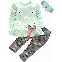 BINPAW Little Girl's Cute Heart Pattern 2 Pieces Outfit