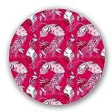 Uneekee Honolulu Pink Lazy Susan: Large, pure birch wooden Turntable Kitchen Storage