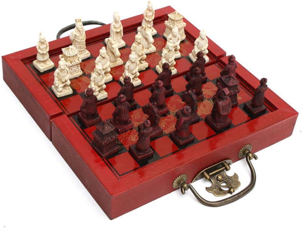 BeesClover Terra-Cotta Warriors - Ajedrez de Madera para ajedrez (32 Piezas): Amazon.es: Hogar
