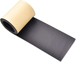 Leather Tape 3X60 Inch Self-Adhesive Genuine Leather Repair Patch for Sofas, Couch, Furniture, Drivers Seat (Black)