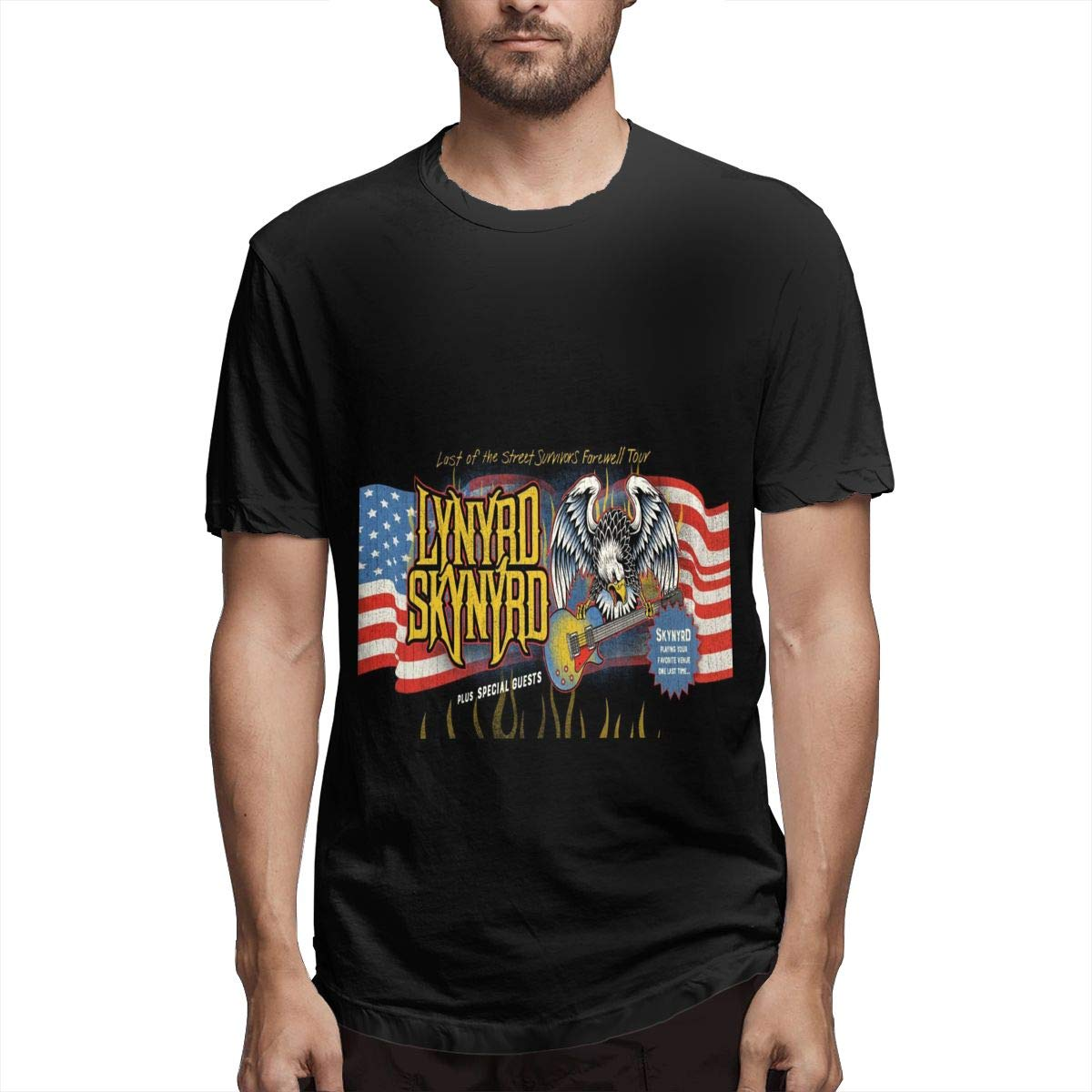 Lihehen Man Last Of The Street Survivors Farewell Tour Retro Printing Round Neck T Shirt