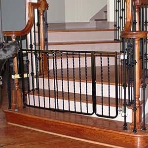 Cardinal Gates Extension for Wrought Iron Décor Pet Gate, 10.5-Inch, Black