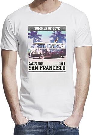 6d0936d3e5f Bang Bangin Summer of Love California San Francisco Raw Edge T-Shirt for Men  Tee