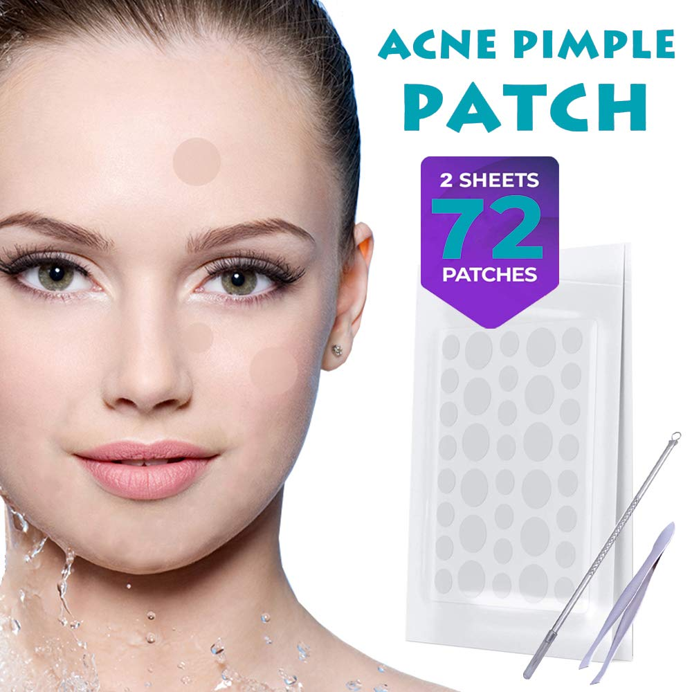 Hydrocolloid acne patches