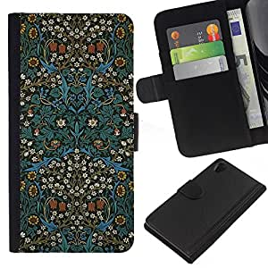 iBinBang / Flip Funda de Cuero Case Cover - Cultura Oriental Alfombra Papel Pintado - Sony Xperia Z2 D6502 D6503 D6543 L50t