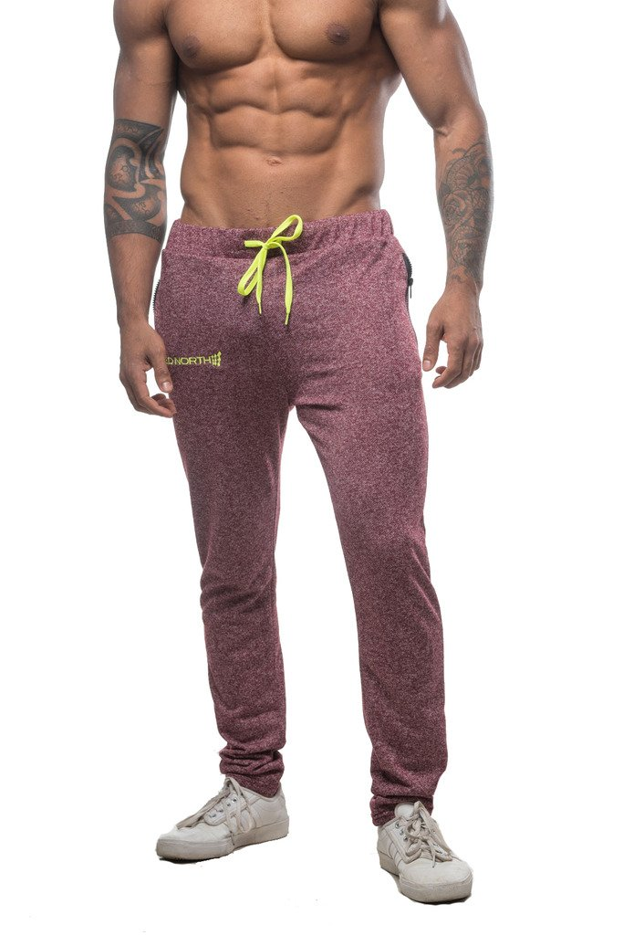 Jed North Men's Joggers Bodybuilding Slim Fit Tight Workout Sweat Pants CATank012P
