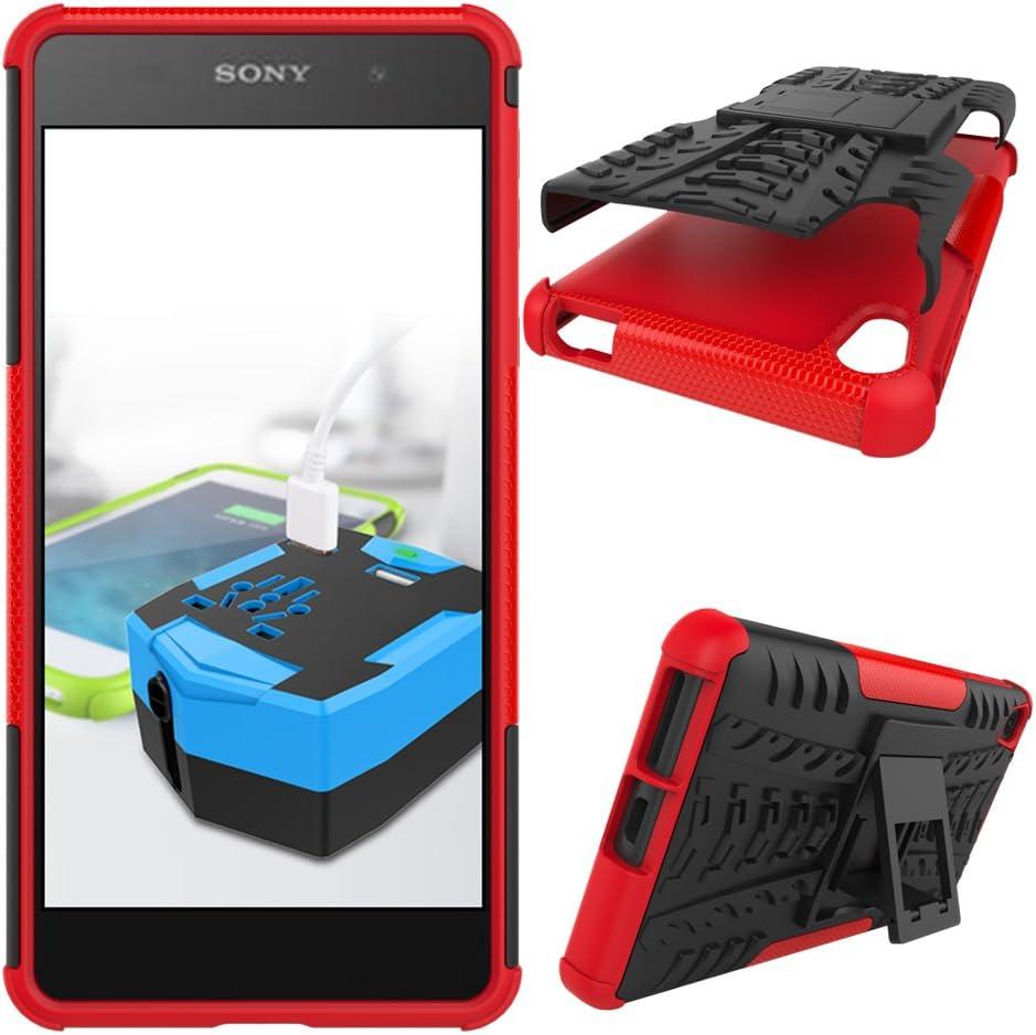 OFU®Para Sony Xperia E5 Smartphone, Híbrido Caja de la Armadura ...