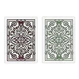 Kem Jacquard Burgundy/green Cards Poker Size Reg Index