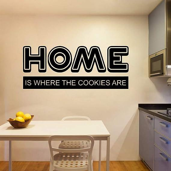 Ajcwhml Hogar Cocina Retro Pegatinas de Pared Mural Art Stickers ...