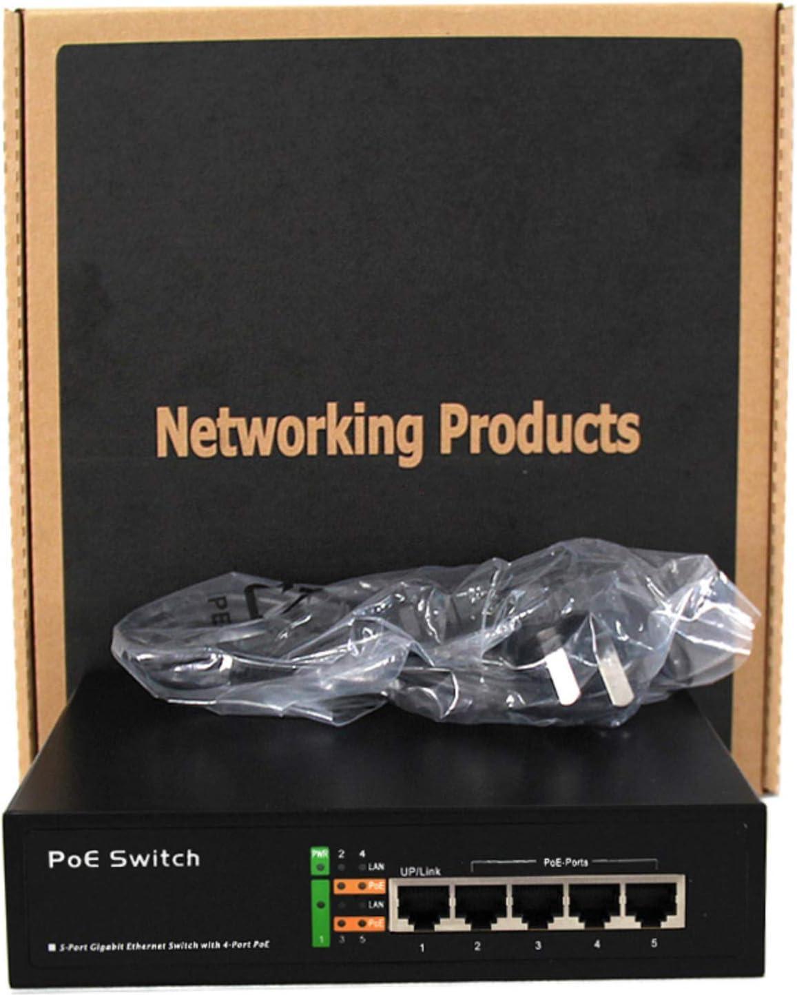 1 Fast UP-Link Desktop 10//100 Mbps 86W TroheStar 9 Port POE Switch 8 Port POE