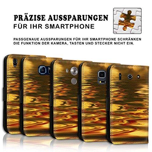 Wallet Book Style Flip Handy Tasche Case Schutz Hülle Schale Motiv Etui für Apple iPhone 5 / 5S - Design Flip MV238