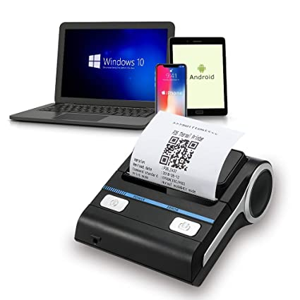 Bluetooth Receipt Thermal Printer, 3inch Bluetooth Micro-USB Android POS  Compatible iOS, Windows System, Thermal Printer with Belt Case, DO NOT