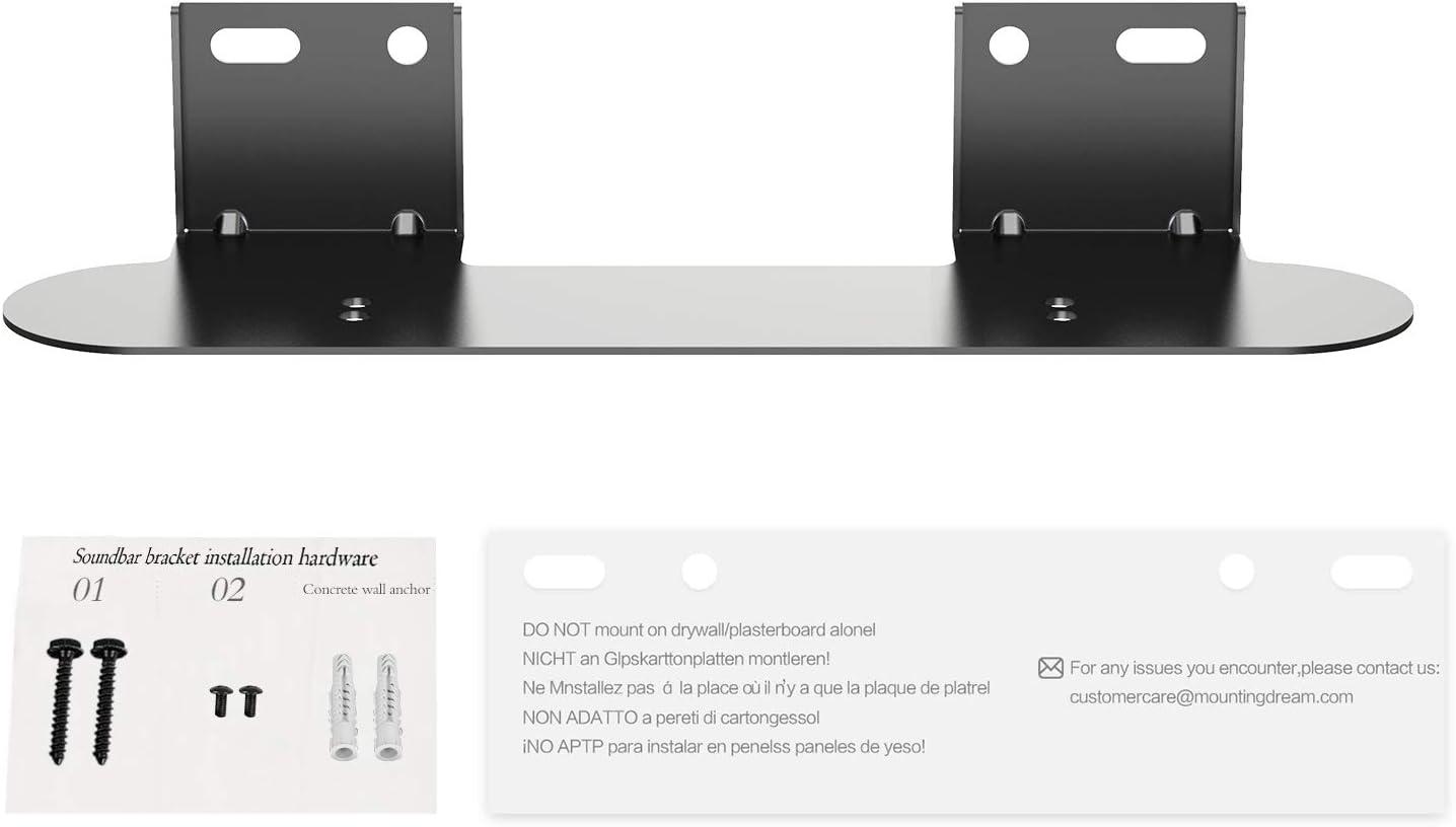 MD5430-W-03 Incluye Plantilla de Montaje Mounting Dream Soporte de Barra de Sonido para Soundbar Sonos Beam Kit Completo de Hardware de Montaje Instalar en la Pared Blanco