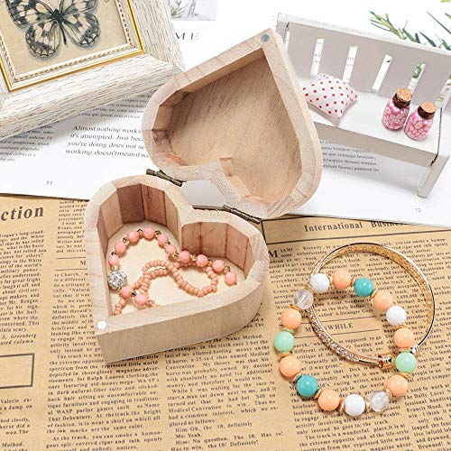 Storage Boxes Bins - 1pc Portable Vintage Heart Shape Wood Box Jewelry Storage Wedding Gift Earrings Ring Desk Wooden - Boxes Bins Storage Storage Boxes Bins Disc Blade Jewelry Heart Ring Beare