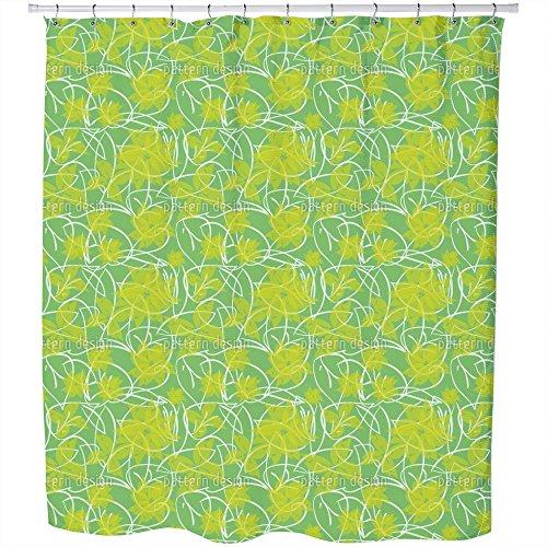 Uneekee Fresh Flowers Shower Curtain: Large Waterproof Luxurious Bathroom Design Woven Fabric by uneekee