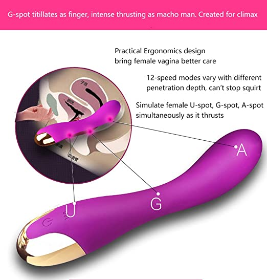 Morefeel® Silicone G Spot Vibrator Rechargeable 10 Speed Vibration Massager
