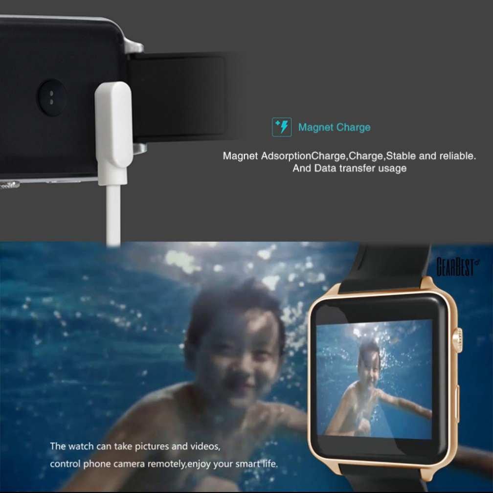 Reloj Inteligente Bluetooth Reloj Inteligente con 2.0M Cámara con Podómetro Función Anti-perdida GPS para Running TF GSM SIM Ranura Reloj Inteligente para ...