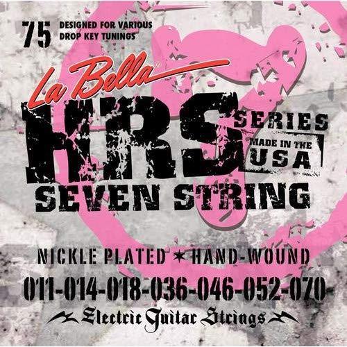 La Bella HRS-75 Nickel 7-string Electric Guitar Strings - .011-.070 ()