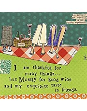 Ideal Home Range C102628100 3-Ply Paper Cocktail Napkins, Curly Girl Design, Thankful for, 20 Count