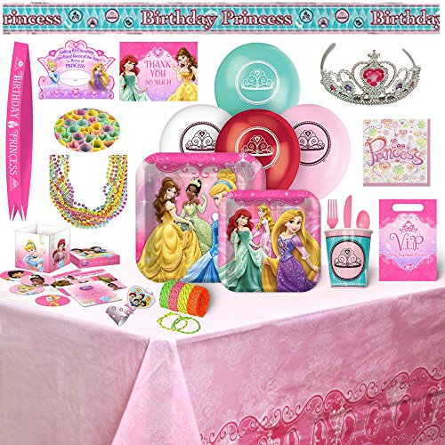 Jasmine Mini Candle - Disney Princess Birthday Party Supplies & Decorations - 8 Guests (178) Pieces