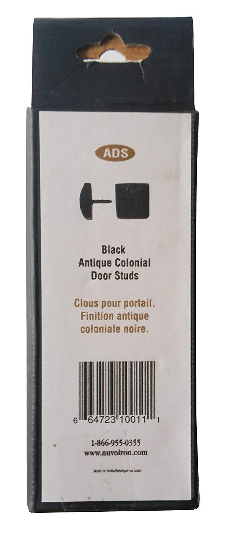 Nuvo Iron Black Antique Look Colonial Door Studs 10 pcs per pack
