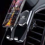 【令和モデル&全面保護】DesertWest 車載ホルダー スマホホルダー 携帯車載ホルダー エアコン吹き出し口取り付け スマートフォンカーホルダー スマホほるだー 車 クリップ式 斬新なギア連動技術/片手操作可能/自由調節可能/360度回転可能/ 4.7-6.5インチ多機種対応 iPhone/Samsung/Huawei/Sony/LG など対応 日本語取り扱い説明書付き