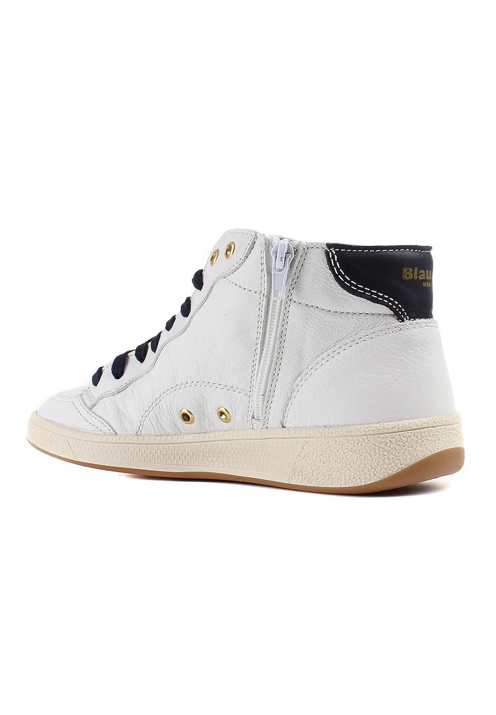 Blauer Herren Sneaker High MURRAY 02 Leder Weiß  Amazon.de  Schuhe    Handtaschen 557325326f