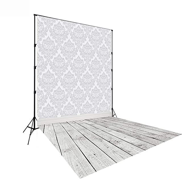Damask 10x12 FT Photo Backdrops,Floral Ornament Various Geometrical Shapes Curved Lines Vibrant Color Palette Background for Photography Kids Adult Photo Booth Video Shoot Vinyl Studio Props