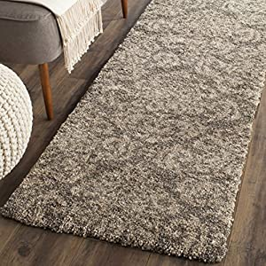 Safavieh Florida Shag Collection SG460-7913 Smoke and Beige Runner (2