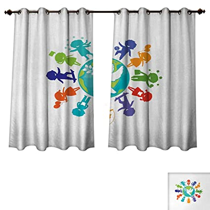 Amazon Anzhouqux Youth Bedroom Thermal Blackout Curtains Cute