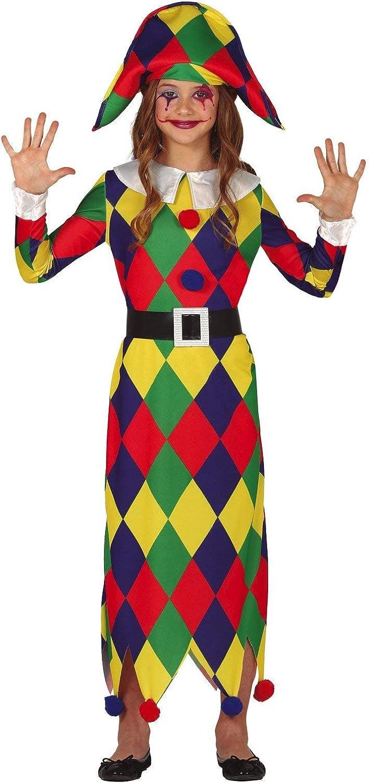 FIESTAS GUIRCA Disfraz de arlequín niña arlequín: Amazon.es ...