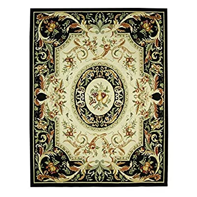 Safavieh Chelsea Collection HK80A Hand-Hooked Black Premium Wool Area Rug