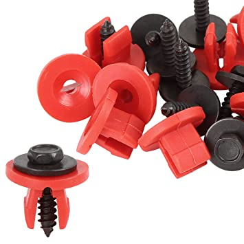 X AUTOHAUX 10pcs Car Engine Undertray Cover Fastener Clips Screw Shield Guard