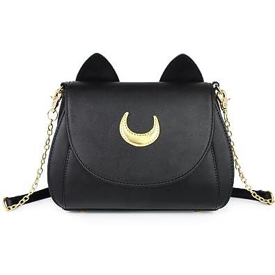 103729161d37 Amazon.com  Cosplay Sailor Moon 20th Tsukino Usagi PU Leather Women Handbag  Shoulder Bag  Clothing
