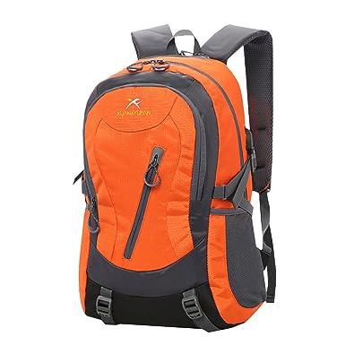384e0d983219 Amazon | LSERVER アウトドア バックパック 撥水 軽量 登山リュック 35L 大容量 リュックサック USB充電ポート搭載 登山用バッグ  ハイキングバッグ 5カラー選べる ...