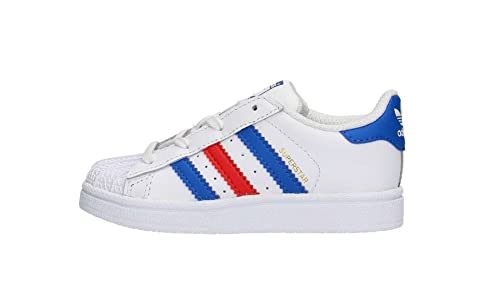 on sale 155df 96fd5 Adidas Superstar Foundation Sneakers unisex per bambini, bianco   blu    rosso