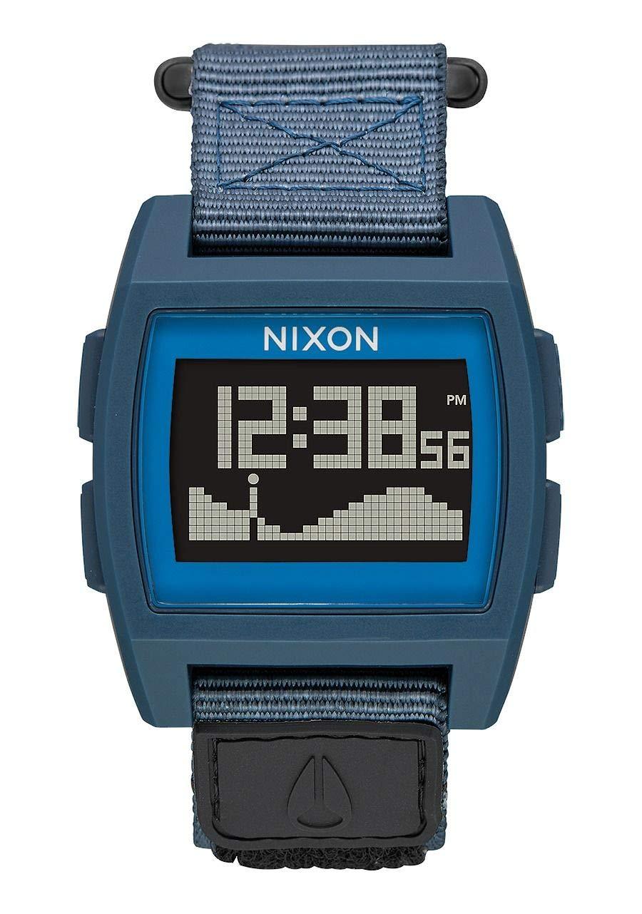 NIXON Base Tide Nylon A1171 - Navy - 102M Water Resistant Men's Digital Surf Watch (38mm Watch Face, 22mm Nylon Band)