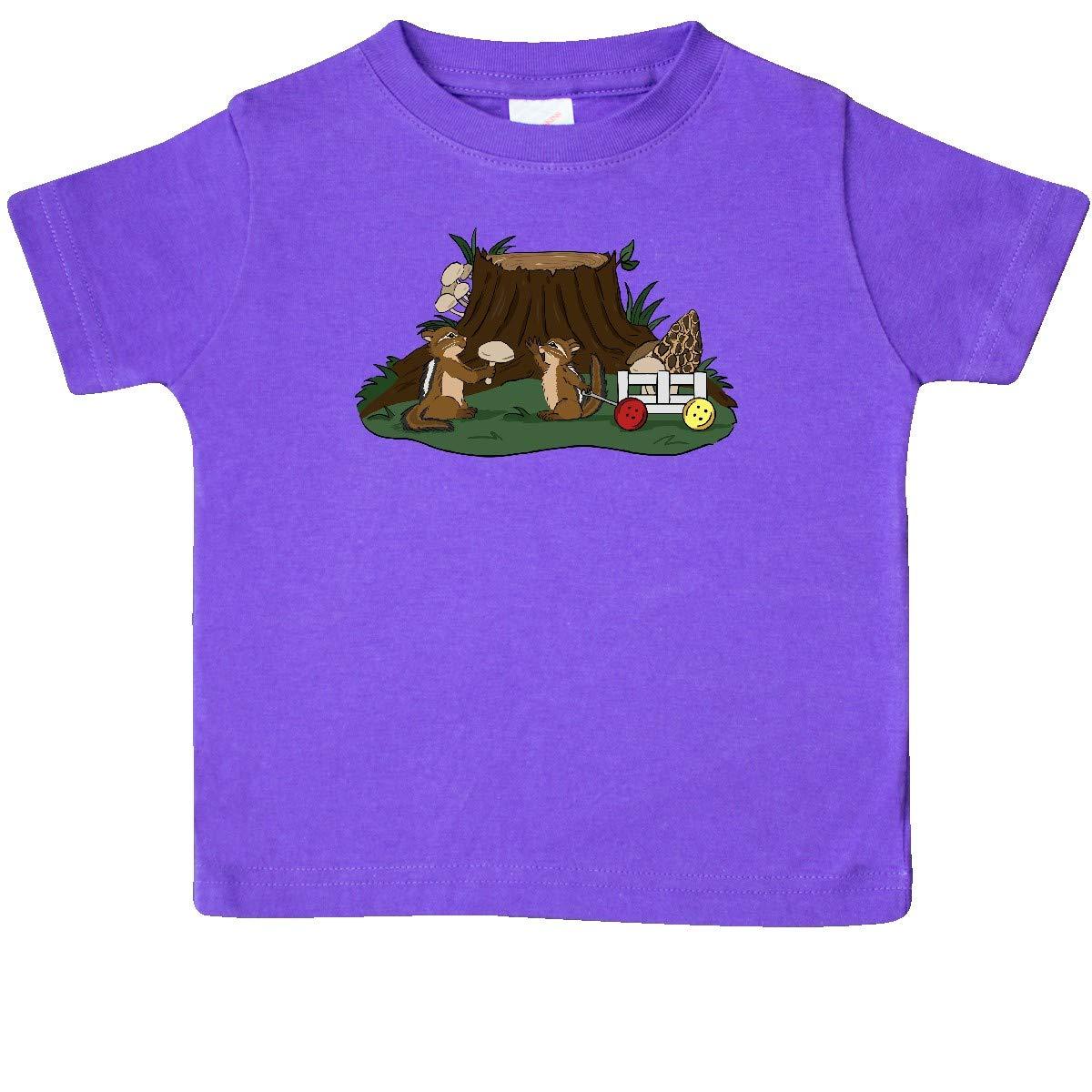 inktastic Chipmunk Mushroom Hunters Baby T-Shirt