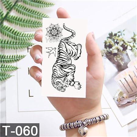 tzxdbh Geometría Cool Etiqueta engomada del Tatuaje Temporal ...