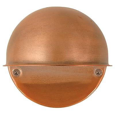 Moonrays 95734 Low Voltage Round Metal Surface Light with 7-Watt Bulb, Antique Bronze - Landscape Path Lights - .com
