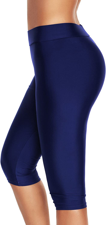 LA ORCHID Laorchid Damen Boardshorts Schwimmshorts Badehose Leggings Knielang 3//4-Beine