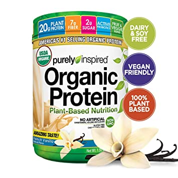 Purely Inspired Organic Protein Shake Powder 100 Plant Based With Pea Brown Rice Protein