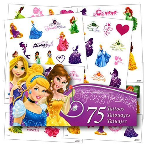 Disney Princess Tattoos - 75 Assorted Temporary Tattoos]()