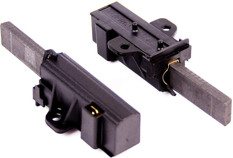 DREHFLEX - Cepillos de motor de 2 piezas para motores de sole - en diferentes lavadoras - incl. soporte - para 400602015-2 4006020152 02333540 481281719419 481236248445