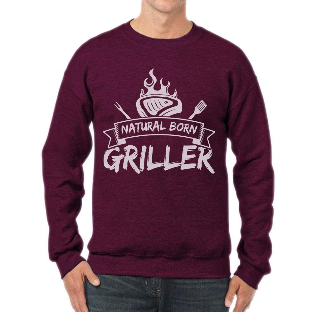 tee Natural Born Griller Funny Grill Chef Gift Unisex Sweatshirt