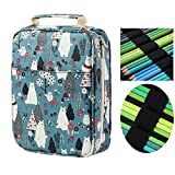 150 Slots Colored Pencils Universal Pencil Bag Pen Case School Stationery PencilCase Drawing Painting Storage Pouch Pencil Box (Bear)